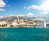 View of Old Town Split in Dalmatia, Croatia