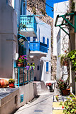 Colorful street in Lindos