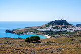 Lindos city, Rhodes, Greece