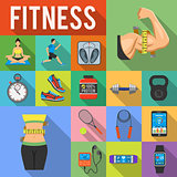 Fitness Icon Set