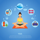 Yoga and Fitness Concept