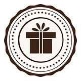 Vector icon of present box