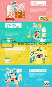 Time For Travel Concept Illustrations