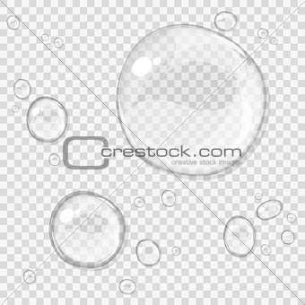 Abstract water drops, isolated on white