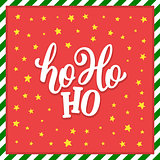 Ho-Ho-Ho Christmas vector greeting card