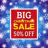 Big Christmas Sale promo banner. Vector template