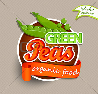 Green peas logo.