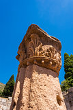 Pillar ruins at Ancient Messini, Messinia, Peloponnese, Greece