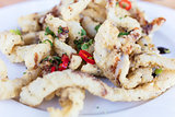 Salt and Pepper Squid With Chili and Spring Onions