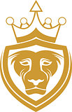 lion king shield protection logo