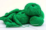 Balls and Knitting Needles fisherman's rib  pattern