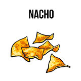 Nachos, traditional Mexican food made