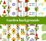 hand drawn garden icons background, vector illustration