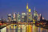 Night Frankfurt am Main, Germany