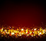 Christmas abstract bokeh background.