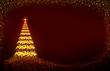 Glowing christmas tree background.