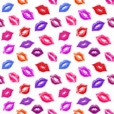 pattern with abstract lips