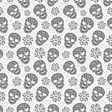 abstract floral skulls