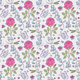 pattern with summer flowers