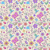 pattern with abstract flowers.