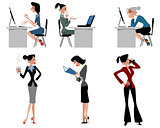 Six woman at work