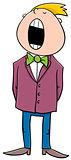 singing boy cartoon