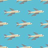 Seamless vector pattern with planes.