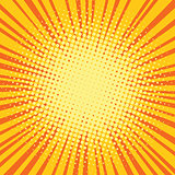Yellow orange rays comic pop art retro background