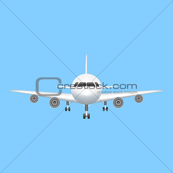 Airplane icon vector aviation illustration