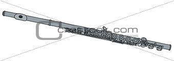 Classic silver flute