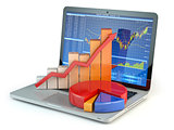 Stock market online business concept.
