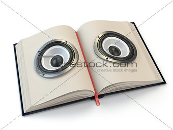 Audiobook or e-learning concept.