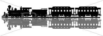 Classic american steam train
