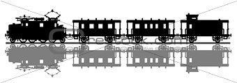 Classic electric train