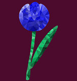 Polygon blue flower image