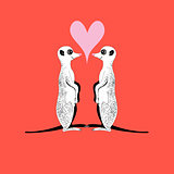Vector meerkats in love