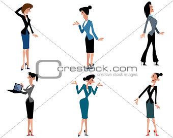 Six businesswomen set