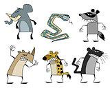 Six strange animals