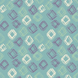 Hand drawn vector seamless pattern. Grunge abstract background. Repeating green geometric texture. Vector illustration.