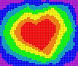 valentine rainbow heart