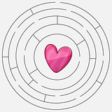 Love heart maze or labyrinth valentines day
