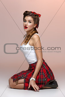 Beautiful pin up girl