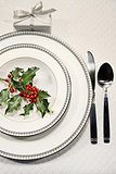 Elegant christmas place setting