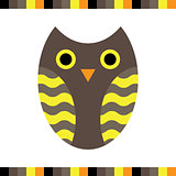 Owl stylized icon warm colors