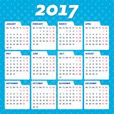 Blue vector 2017 calendar