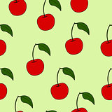 abstract doodle berry seamless pattern