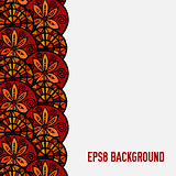 hand drawn vector ethnic background