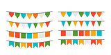 Vector garlands, flags of different forms
