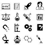 Science, innovation and discovery icons