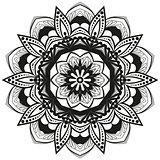 Vector flower mandala